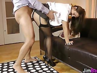 Teen Hottie Gets Cummed