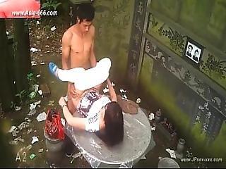 actie, amateur, aziatisch, chineze, neuken, hardcore, oraal, buiten, gluurder