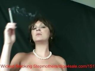 ερασιτεχνικό, συλλογή, Milf, γείτονας, κάπνισμα