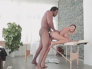 Ebony Bitch Is Drilling A Petite Hottie Until Exhaustion