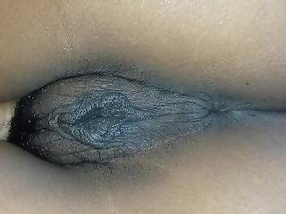 Closeup Of My Large Labia Virgin Pussy, Ass And Breasts