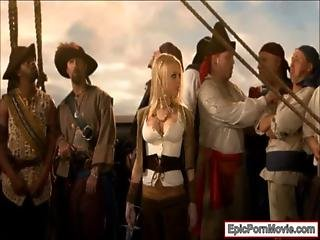 Big Boobs Babe Shay Jordan Tag Teamed By Two Pirates
