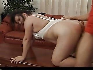 Tabea Kinky Mature Brunette Fucks In The Couch