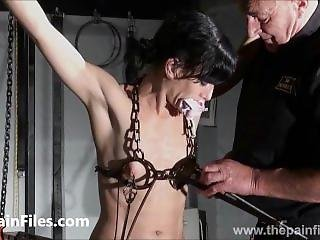 Breaking Elise Graves In Hard Dungeon Tit Tortures And Suspension Bondage