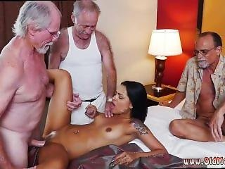 Old/ Young Blonde Anal And Old Man Fuck In Shower And Granny And Old Guy