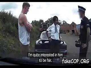 Concupiscent To The Max Fake Cop Keeps Jumping On A Thick Shaft