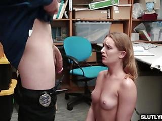 Lp Officer Giving Daisy Stone A Mouthful Of Cock