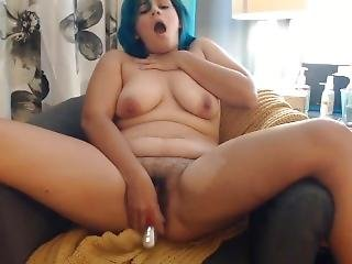 Blue Haired Sweet Lewdotcee With Big Ass And Hairy Cunt