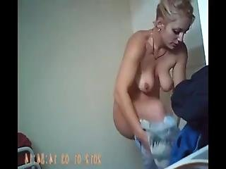 First My Naked Mother In The Bathroom, Next My Naked Sister All Recorded With My Hidden Camera In Our Bathroom