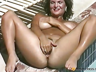 My Aunt In Her Pussy Shoves A Toy