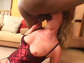Misty May Throated By Black Cock