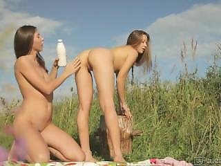 Two Whores In Wild Nature