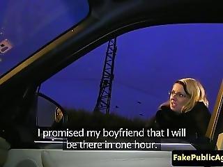 Hitchhiking Eurobabe Creampied In Car