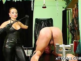 Dude Tied Up And His Ass Destroyed In Rough Femdom Fetish