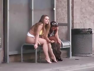 bikini, autobus, publicznie