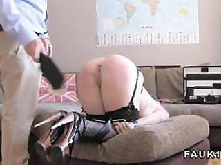 Busty Blonde Fucked In Bdsm In Casting