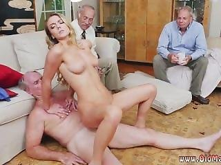 Hot Blonde Sisters Share A Big Cock And Young Teen Whipped First Time