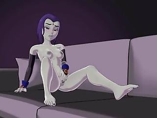 Animation Of The Female Character Raven Masturbating In Teen Titans