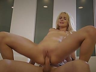 Petite Blonde Elsa Jean Seduces Guy And Gets Fucked In Cowgirl Position