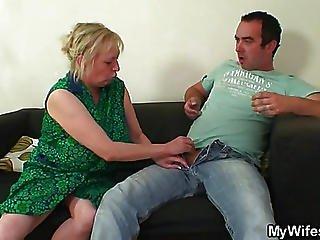 He Cannot Resist The Granny Slut
