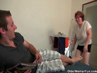 Blow Your Load On Grandma S Face And Belly