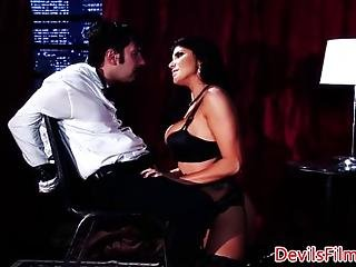 Big Titted Femdom Deepthroating And Fucking This Lucky Guy