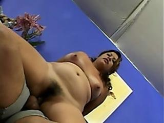 Round Ass Hairy Slut Having Wild Sex Action