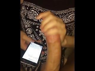 Teen Stroking Big Cock