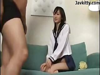 Fun Loving Japanese School Girl - Uncensored