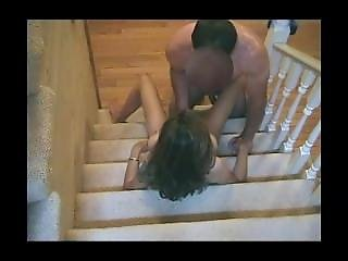 Cheating Busty Milf Fucked On Stairs From Sexdatemilf.com