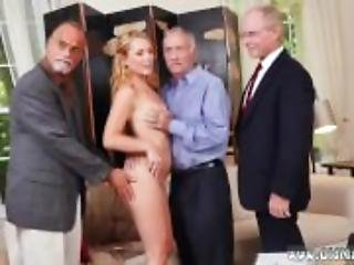 Young and old grope in bus white guy fucks