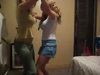 Two Busty Teens Dancing (18+)