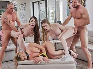 Pissed Dads Swap Daugters Harlowe And Bunny And Started A Hard Cunt Pounding