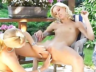 Babe, Blonde, Clit, Fisting, Lesbian, Pussy, Pussylips, Skinny, Teen, Young