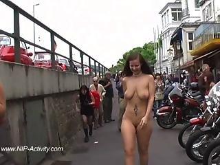 Hot Redhead Jennifer Naked In Public