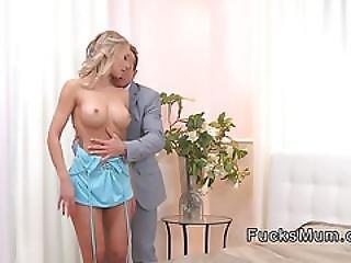 High Class Busty Blonde Mature Fucks