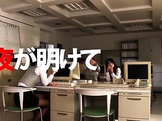 asiática, excitada, japonesa, escritório, orgia, foda a três