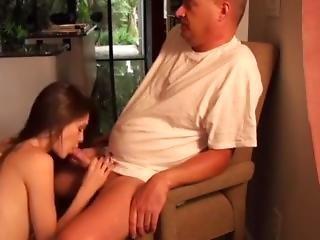 Dad Can't Resist Daughter
