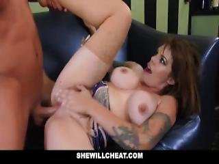 Shewillcheat Cheating Bartender Wife Fucks A Patron