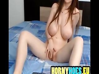 Hot Brunette Show Her Big Boobs %26 Fingering