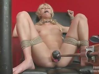 Jeanie Marie Tied Down Fuck Machine Orgasm First Shoot