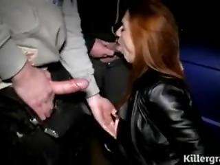 stor pupp, blowjob, cumshot, fetish, gruppesex, lær, milf, trekant
