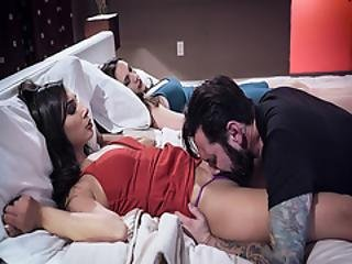 Escort Lays Down On Bed To Feed Tommy With Her Wet Pussy