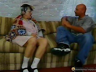 Gray Aunt Seduced Man