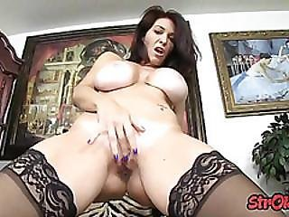 Fake Tits, Fetish, Handjob, Milf, Pov, Pussy, Shaved, Stocking, Tan Lines, Teasing