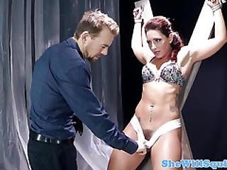 Bound Babe Tiedup And Pussyfucked