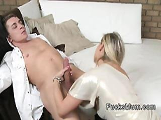 Blonde Milf Fucking After Glass Of Wine