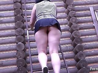 Natasha Masturbates On The Stairs