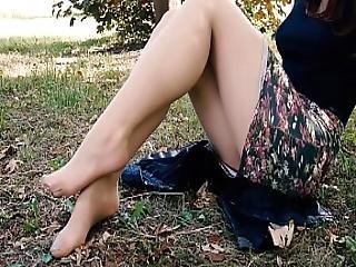 amatör, fötter, fetish, fot, ben, oralt, trosor, strumpbyxor, polska, tår