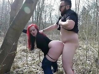 Straight Bear Fucks His Bbw In The Woods